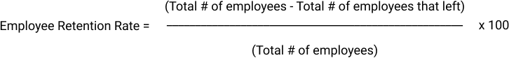 Employee Retention Rate Formula by Barometer